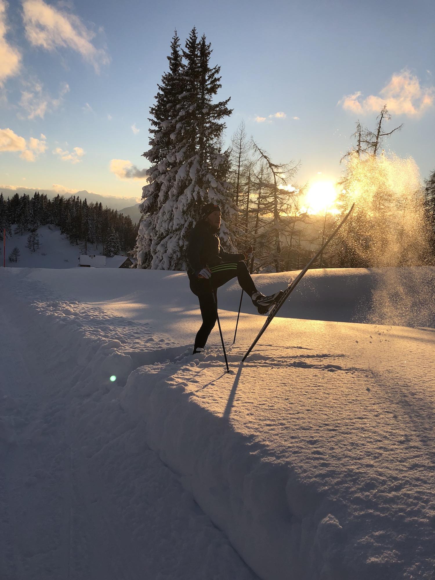 Langlauf Technik Trainingslager Schnee