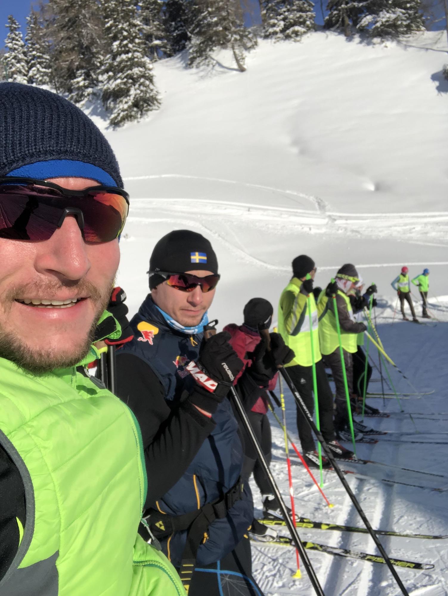 Langlauf Technik Trainingslager Ski Selfie
