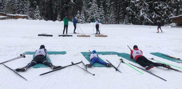 Langlauf Techniktraining Biathlon